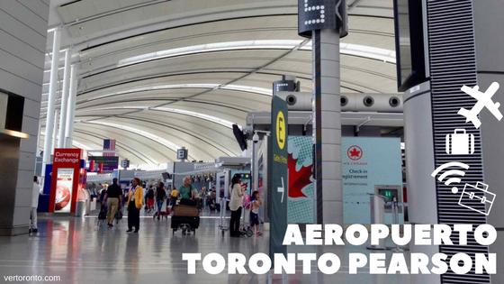 Interior del aeropuerto de Toronto