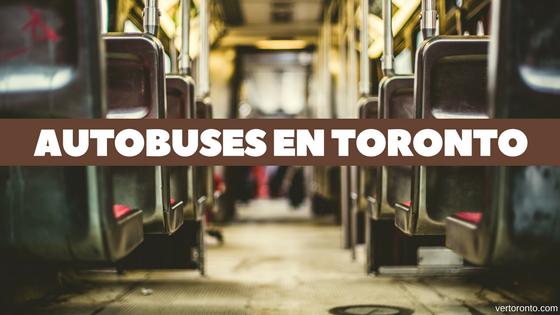 Moverse en autobuses en Toronto