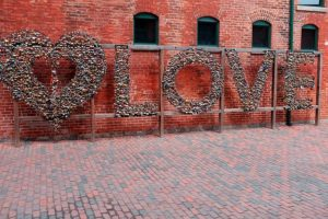 Calles del Distillery district Toronto