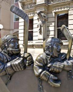 Fachada del hall de la fama Hockey