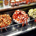 Comida en el mercado St Lawrence Toronto