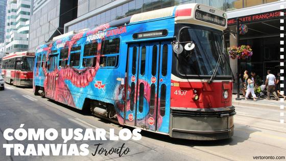 Tranvías de Toronto en las calles