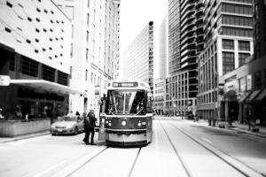 Tranvías de Toronto en el centro