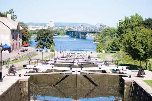 Visitar las esclusas de Ottawa