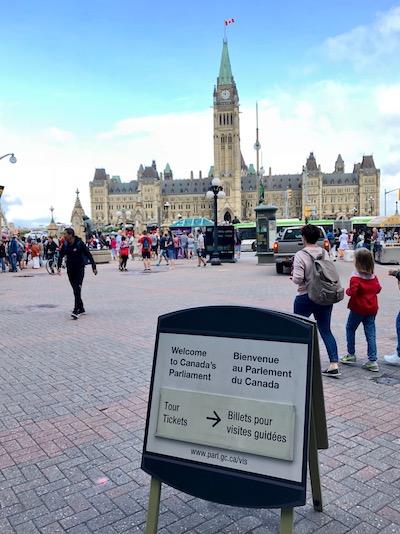 Visitar Ottawa y el parlamento