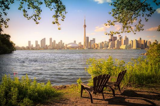 Vista del lago de Ontario